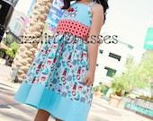 Dazzlin' Dresses Custom Sailor Whale Anchor Appliqued Shirt & Skirt Set  Girls 12M-6