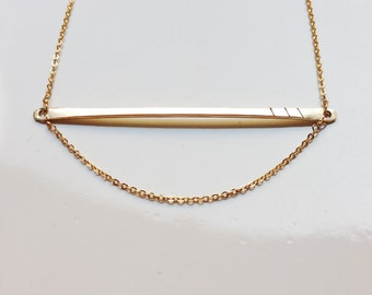 Bar Necklace Minimal Necklace Simple Necklace Arc Necklace Crescent Necklace Simple Gold Necklace