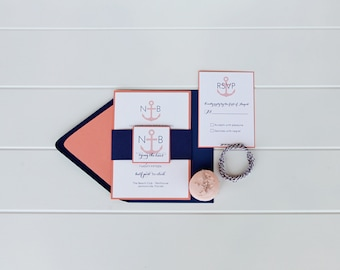 Nautical Wedding Invitation Suite - Sample