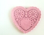 "Pink Heart Paper Doilies 5"" - Set of 20 - mooseart"