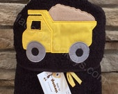 Kids Personalized Hooded Towels Dump Truck