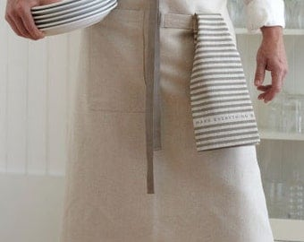 Bistro Apron in Oatmeal