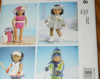 New McCall's 18' doll Clothes Pattern M6938