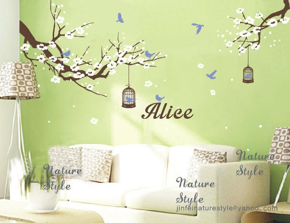 cherry blossom mural wallpaper