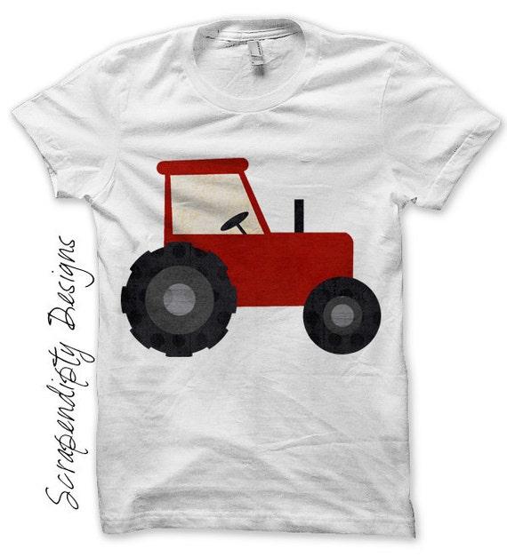 Iron on tractor shirt pdf farm iron on by scrapendipitydesigns for T shirt printing pdf