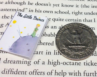 SALE - Miniature Book / The Little Prince by Antoine de Saint-Exupéry / Tiny Book w/real pages / 1:6 scale mini book / playscale