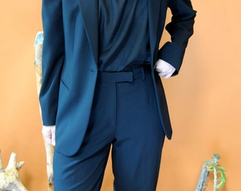 1990s Giorgio Armani Black Suit