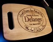 Personalized Bamboo Cheese Tray Engraved and Carved Cutting Board