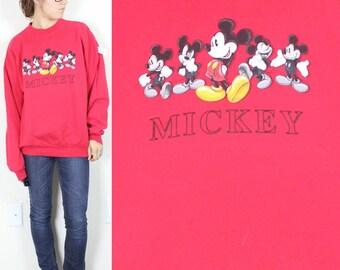 SALE Vintage Retro Red Mickey Mouse California Sweatshirt Medium
