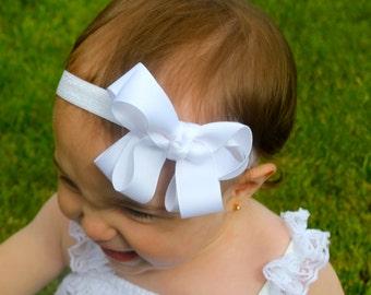 Baby Bow Headband - 5 Bow Headband - Infant Headband