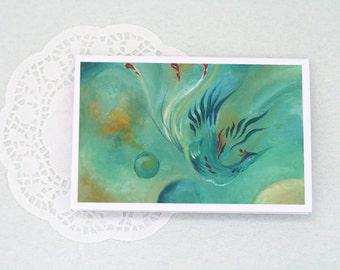 GREETING CARD: Through Oceans Through Skies (Blank inside, 98x148 mm)