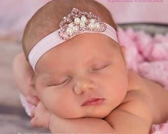 Baby Headbands - You Pick 1 Tiara Headband - Infant Headband- Princess  Baby Girl Headbands - Baby Hair Accessories - Baby Hair bows -Yellow