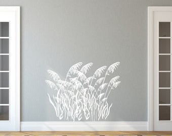 Sea Oats Vinyl Wall Decal - Sea Grass Style B Decal - Beach Decor - Nautical Wall Decal - Beach Decals 22423
