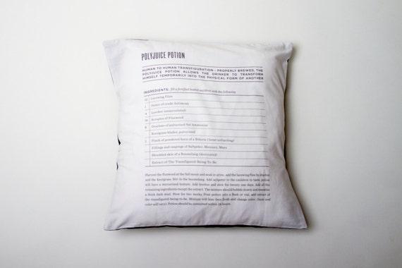 Polyjuice Potion Recipe - Harry Potter - Pillowcase