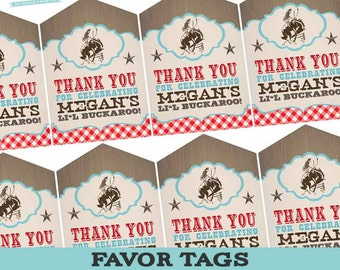 Cowboy Baby Shower Favor Tags