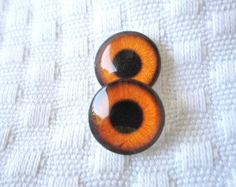 Glass eyes 12mm cabochons
