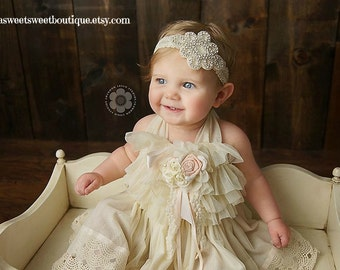 Baby Flower Girl Headband Wedding Headband Baby Girl Headbands Baby Headbands Lace Headbands Rhinestone Baby Headbands Newborn Headbands