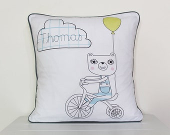 Personalised embroidered cushion / pillow cover