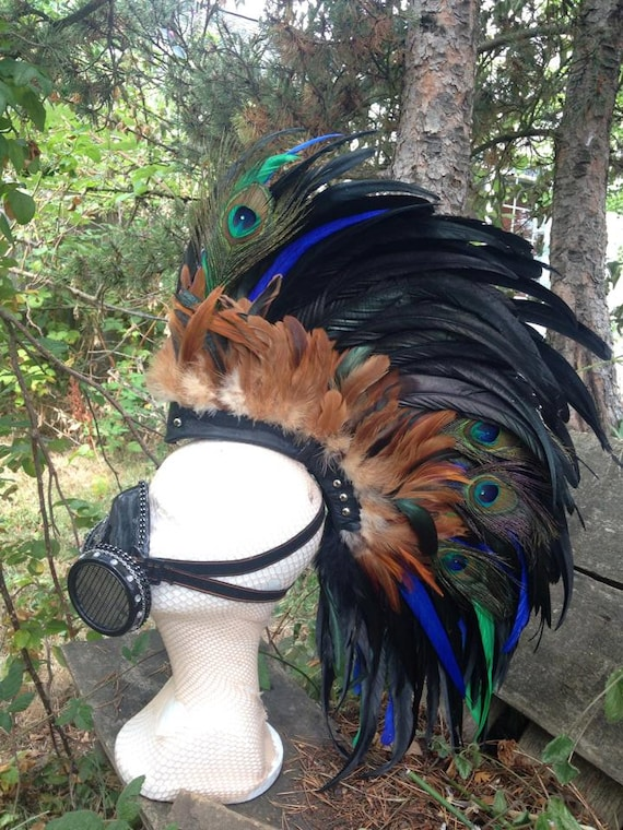 "Customizable Feather Mohawk / Headdress - ""Celtic Warrior"""