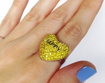 HAPPY Candy Heart Ring(c) by Sara Gallo