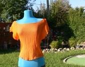 pumpkin sheer blouse size small