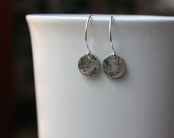 Full Moon Earrings - Silver Moon Earrings - Moon Phase Jewelry - Full Moon Jewellery - Sterling Silver Jewelry - Silver Moon Pendant