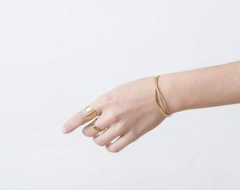 Gold Cuff Bracelet - Hammered Eye Gold Cuff - Rustic Gold Cuff