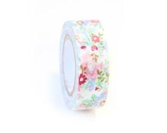 Washi Tape Floral Washi Tape Pink  Rose Floral Paper Tape