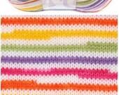 Baby yarn, acrylic yarn, Multicolor, Rainbow, soft, Each skein: 100 gr