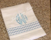 Monogrammed burp cloth - choose your color option