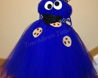 Cookie monster costume tutu dress
