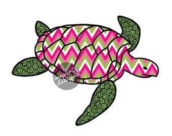 Sea Turtle Car Decal Colorful Design Bumper Sticker Laptop