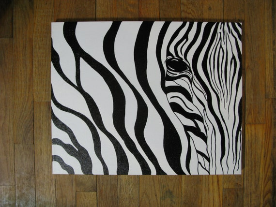 Zebra Painting Wall Art Abstract Painting Home by ...