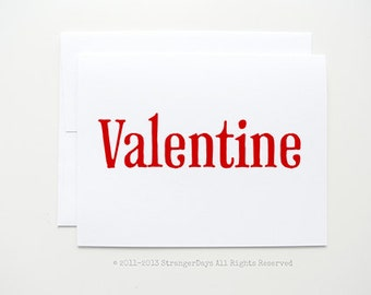 "Valentine Card "" Valentine "" Greeting card. I love you card."