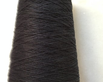 Black Organic cotton  8/2 cottonlin cone weaving yarn