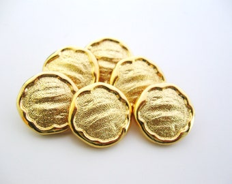 Gold buttons - set of six