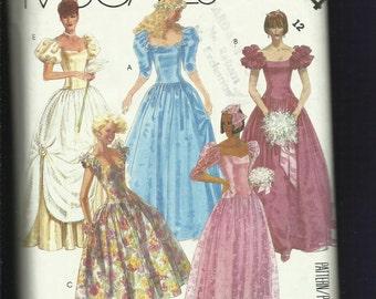 1986 McCalls 2344 Cinderella Ball Gown Size12