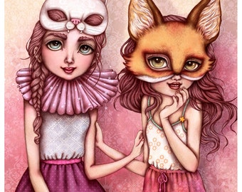 Vanilla Meow and the Cardamom Foxlet Limited Edition Fine Art Print