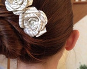 Book Page Paper Hair Flower