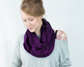 Purple Infinity Scarf, Aubergine Scarf, Plum Scarf, Purple Scarf, Circle Scarf, Womens Scarf, Winter Scarf, Gift for Her Wife Gift, Mom Gift