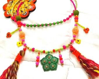 SALE-------- GYPSY'S WEDDING Necklace- Bohemian Necklace- Tribal kuchi  Necklace- Gypsy Necklace