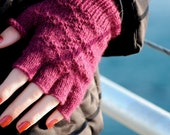 Custom Knit Fingerless Gloves, Merino or Cashmere Merino, Eco-Friendly Luxury, 5 Color Choices