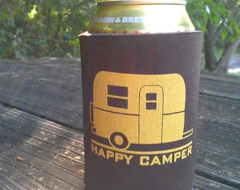 Happy Camper Can Cooler - Set of 2