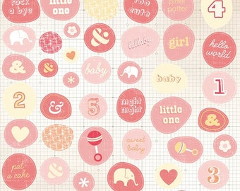 Studio Calico Story TIme Baby GIrl Accent Stickers -- MSRP 2.00