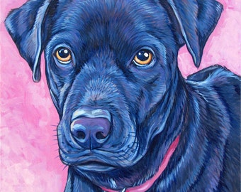 "10"" x 10"" Custom Pet Portrait Painting in Acrylic on Canvas of One Dog, Cat, or Other Animal, Gift Certificate available for Christmas Day"