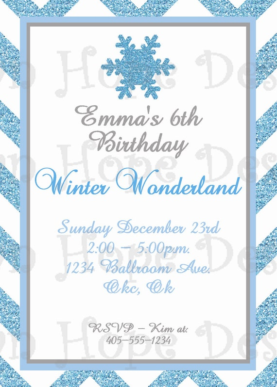 winter wonderland invitation winter wonderland birthday, Party invitations