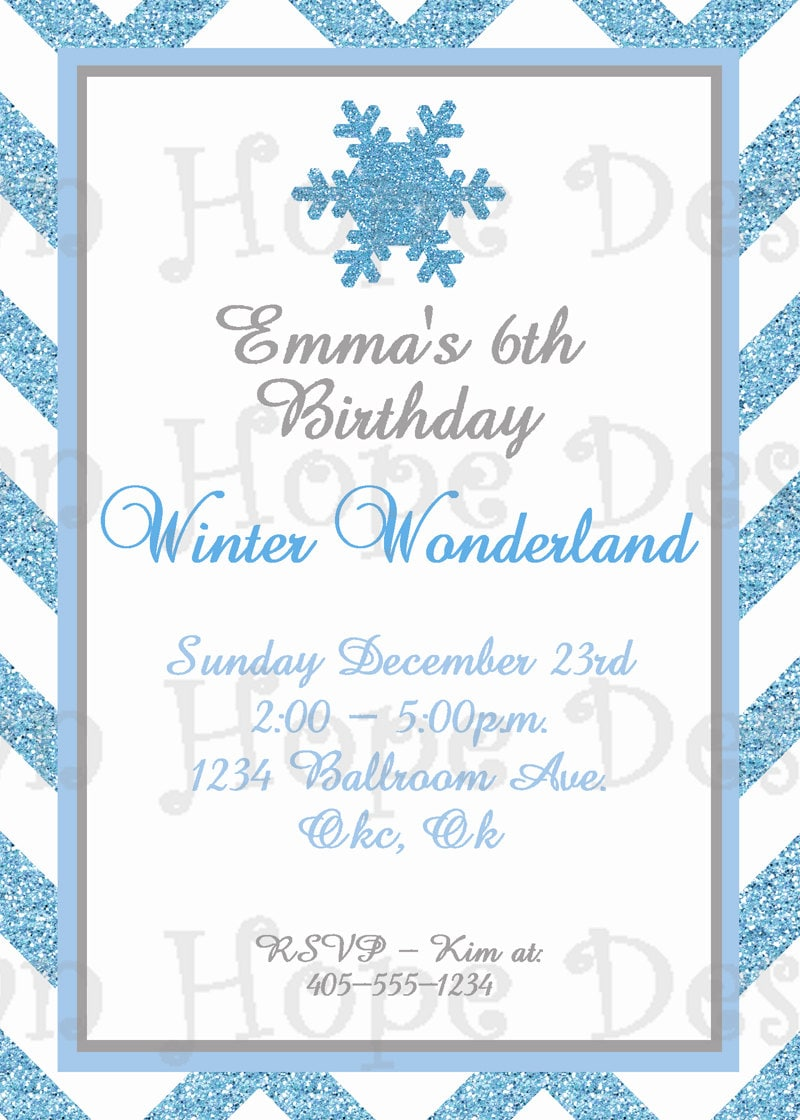 winter wonderland invitation  winter wonderland birthday, Birthday invitations