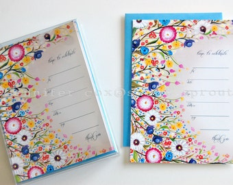 Wild Flowers Blank Invitation 5x7 with Envelope 10pack