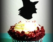 12 Witch Cupcake Toppers- Halloween Party-Spooky-Scary Cupcake Toppers-Wicked Witch