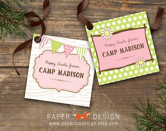 Favor Gift Tags - Camp Theme - DIY Printable